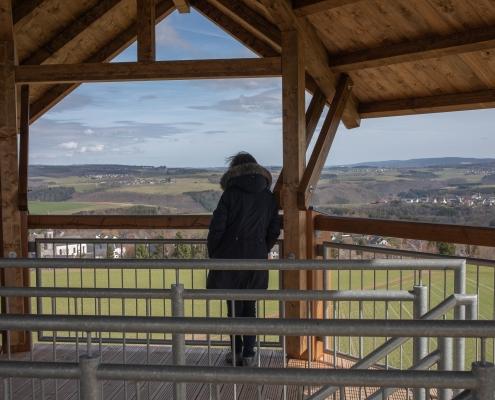 """Der Aussichtsturm """"Nationalparkblick"""" bei Rascheid"""