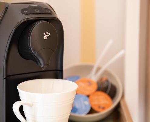 """Urlaub im Hunsrück in der Pension """"Landhaus HEIMISCH"""" - Eine eigene Kaffeemaschine auf dem Zimmer gehört dazu!"""