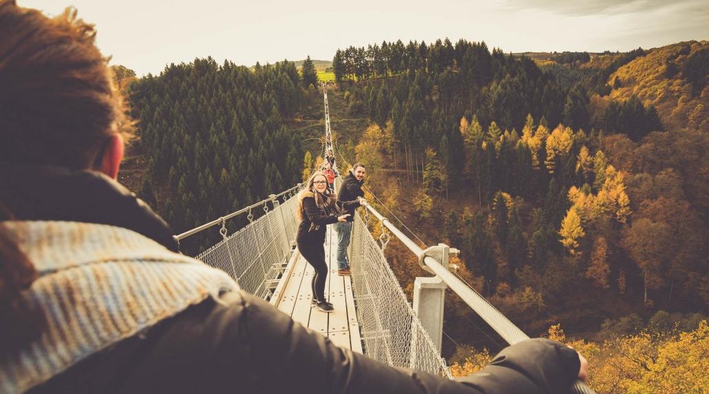 Die Hängebrücke im Husnrück - Die Hängeseilbrücke Geierlay