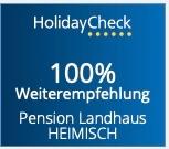 HolidayCheck2021 Bewertung 6/6 Punkte, 100% Weiterempfehlung