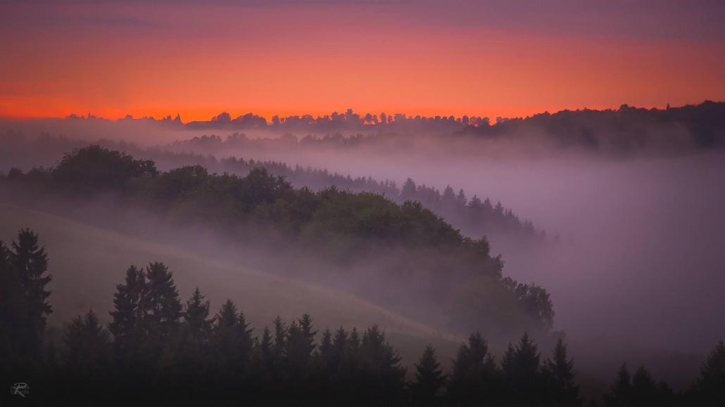 Atemberaubende Sonnenuntergänge im Hunsrück - Landhaus HEIMISCH
