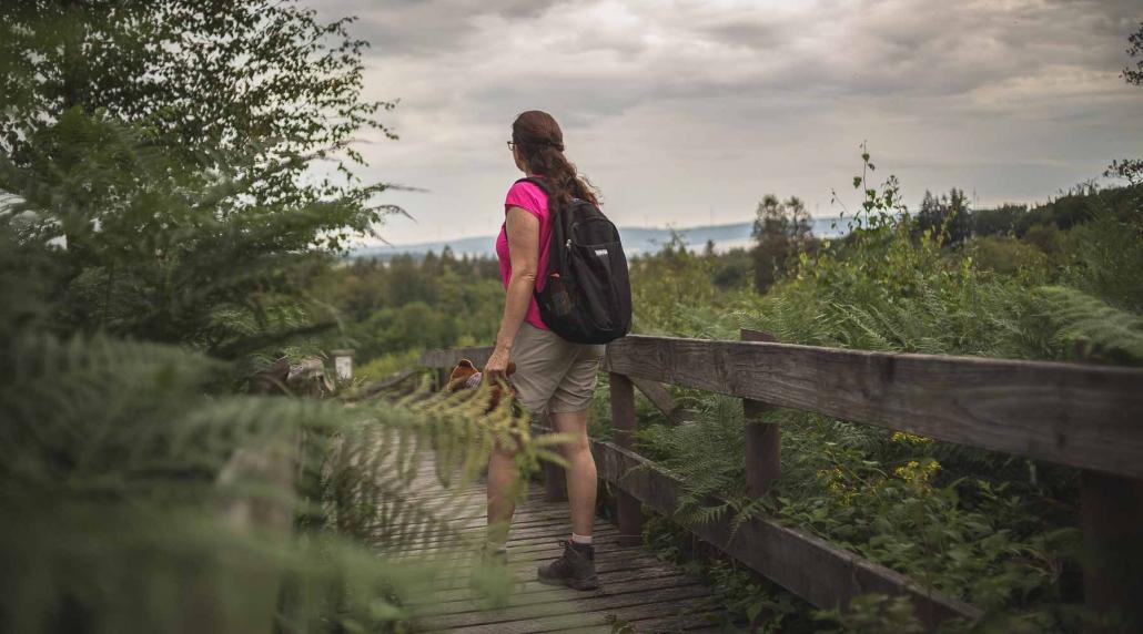 """Wandern im Hunsrück - Die Ruhe und Weite des Hunsrücks erfährt man am besten auf den zahlreichen Premiumwanderwegen """"Traumschleifen"""" - Das Landhaus HEIMISCH ist ein idealer Ausgangspunkt für einen Wanderurlaub im Hunsrück"""