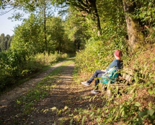 Jeder findet hier 'sein Plätzchen' auf den Wanderwegen rund um Geisfeld