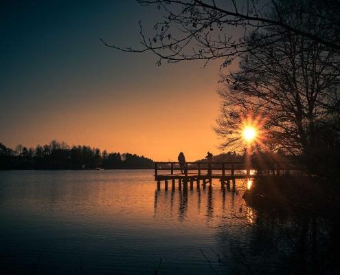 Romantische Sonnenuntergänge im Hunsrück - hier in Kell am See - unweit vom Landhaus HEIMISCH