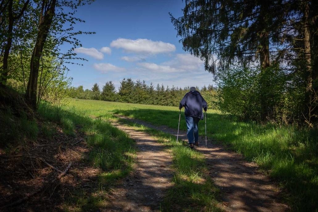"""Die Wanderweg rund um Geisfeld sind auch für """"ältere Semester"""" geeignet"""