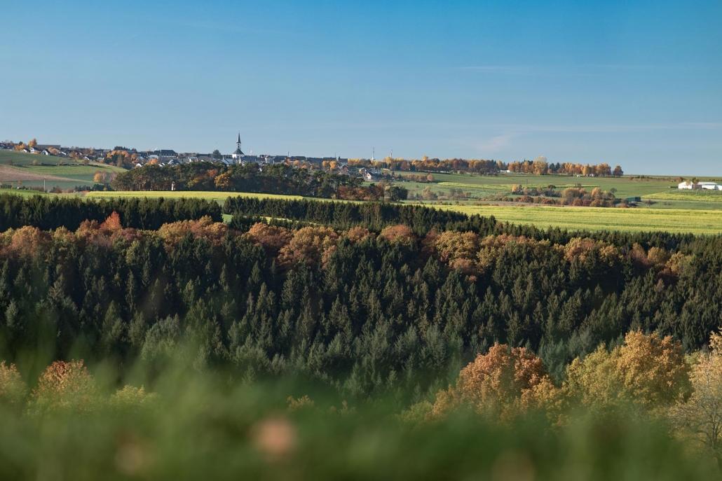 Die Wanderwege um Geisfeld bieten viele schöne Aussichtspunkte - Landhaus HEIMISCH