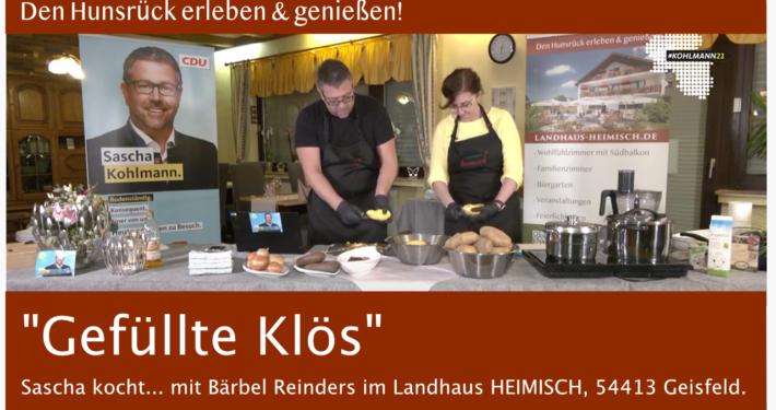 """""""Gefüllte Klös"""" Sascha kocht... mit Bärbel Reinders aus Geisfeld, Landhaus Heimisch"""